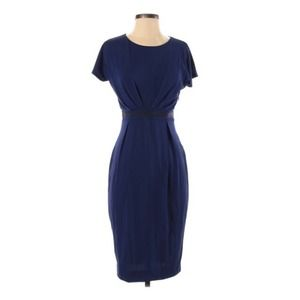 {Max Mara} Blue Vintage Pleated Dress